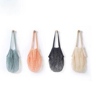 Handbags - Parisienne Cotton Market Open Net Tote Bag Black